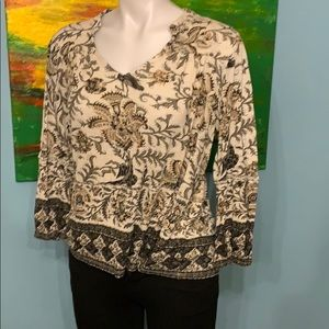 Women's Lucky Brand Print Blouse- Size M
